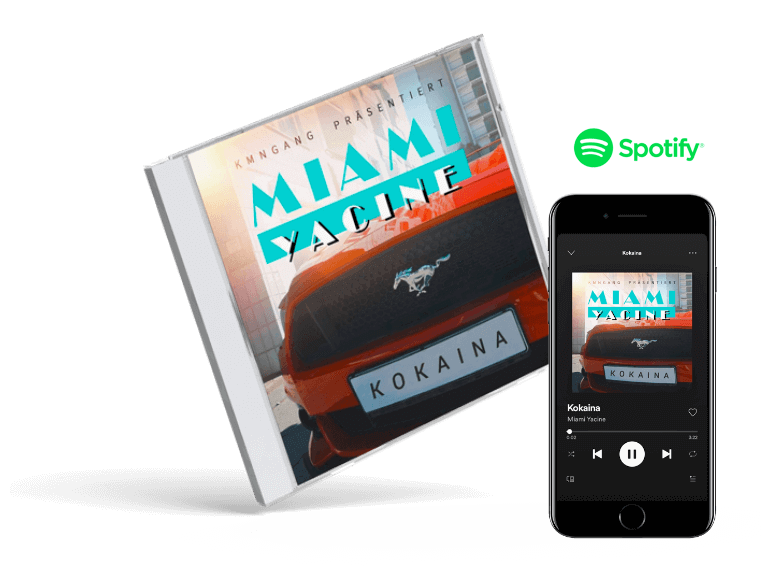 Miami Yacine - Kokaina Cover Design
